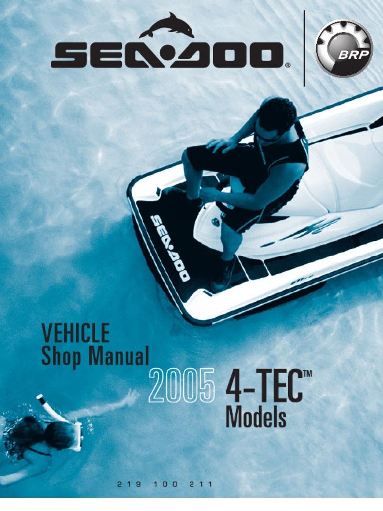 Sea Doo Shop Manual 2005 Machines Propulsion Kawasaki 1100 Stx Jet Ski Wiring Diagram