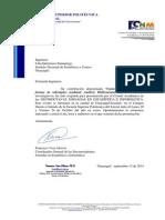 Carta de aceptación ESPOL - Lilia Quituisaca