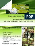 Ayurveda Intro in brief