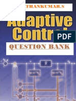 Adaptive Control Question Bank without Answer Key