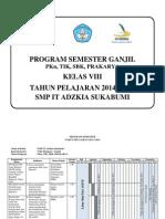 Promes Pkn-tik-sbk-prakarya Gabungan Kls 8 Smtr Ganjil 2014