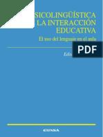 Psicolingüística de La Interacción Educativa