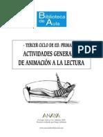 Actividades Generales Animacion a La Lectura 3º Ciclo EP