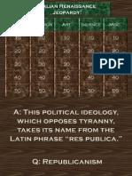 Italian Renaissance Jeopardy