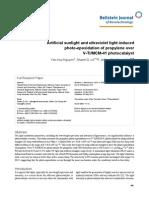 Artificial Sunlight and Ultraviolet Light Induced Photo-epoxidation of Propylene