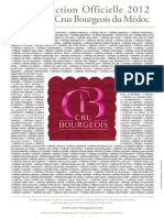 Liste Sélection Officielle 2012 Des Crus Bourgeois Du Médoc