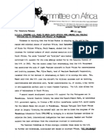 American Committee on Africa -- ACOA Condemns U.S. Moves to Break South African Arms Embargo and Possible American Aid to Portuguese Dam Project in Mozambique