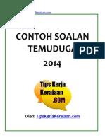 Contoh Soalan Temuduga 2014