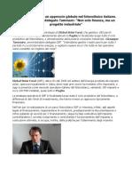 Global Solar Fund controllo su tutto il ciclo produttivo del fotovoltaico