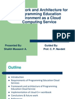 Framework and Architechture Programming Education Ennvironment as Cloud Service1