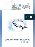 Today's Equity Market News Letter