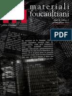 Materiali Foucaultiani a. II, n. 3 Gen-giu 2013 (Foucault e La Letteratura)