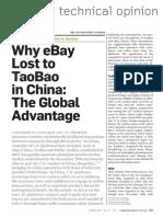Why Ebay Lost to Taobao (Ou 2009 CACM)