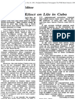 Castro's Effect on Life in Cuba (N Luxenburg letter)