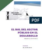 El Rol Del Sector Público