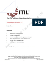 51396206 ITILv3FoundationSampleA v3 1 CTU 20100406