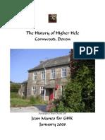 The History of Higher Hele, Cornwood, Devon