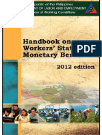 2012 Handbook on Worker's Statutory Monetary  Benefits