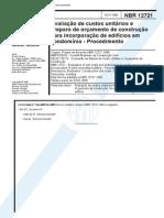 NBR 12721 - 1992 - Avaliacao de Custos Unitarios e Preparo de Orcamento de Construcao Para Incorp Livro