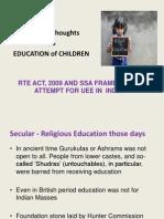 Elementary Education and Sarva Shiksha Abhiyan