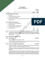 Class 12 Cbse Economics Syllabus 2015