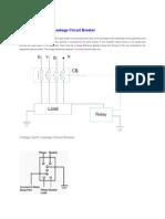 Voltage Earth Leakage Circuit Breaker