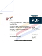 SSPC PCI Certificate