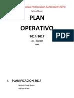 Plan Operativo 2014 - 2017 Sonia c.