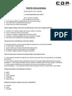 Teste Vocacional CDP