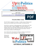 Wake Up to Politics - September 19, 2014