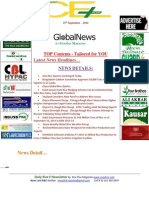 19th September 2014 Daily Exclusive ORYZA E-Newsletter by Riceplus Magazine