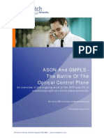 ASON and GMPLS the Battle of the Optical Control Plane