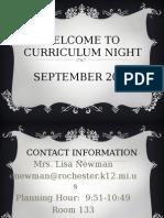 curriculum night 2014