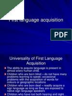 Usvajanje Jezika, Lecture 01, 1112