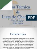 Ficha Tecnica y Lista de Chequeo