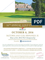 2014 Golf Classic Invitation