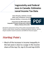 Top-End Progressivity and Federal Tax Preferences in Canada
