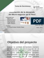 Estimación de La Demanda de Micro-seguros en El Perú