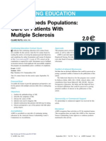 Care of Patients With MS