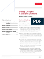 Call Flow Elements Tutorial for Avaya Dialog Designer-LB4276DEV