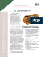Swepco 702 Rotary Compressor Oil Sales Brochure j03774