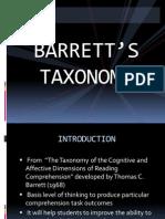 1. Barrett's Taxonomy