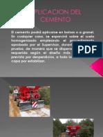 Aplicacion Del Cemento
