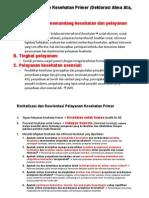 Pengembangan Pelayanan Kesehatan Primer_Usakti Jkt 6 Sep 2014