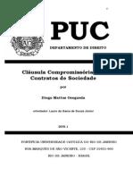 Clausula Compromissoria Contratos Sociedade