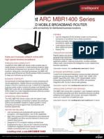 CradlePoint ARC MBR1400 DataSheet 7.7.14