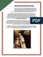 Biografia de Santa Rosa de Lima