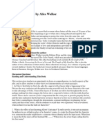 The Color Purple by Alice Walker - Discussion Questions