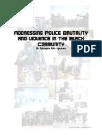 Addressing Police Brutality, Final Draft