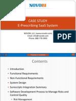 Case Study - EPrescribing SaaS System